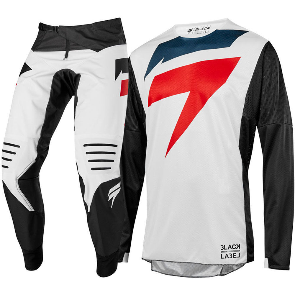 New Arrival MX 2019 3LACK Mainline White Jersey Pants Adult Motocross Gear Set Jersey Pants Racing