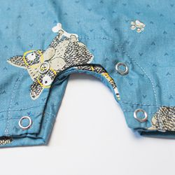 B2019002-4 2019 Blue Doggy baby boy coming home outfit (4)_
