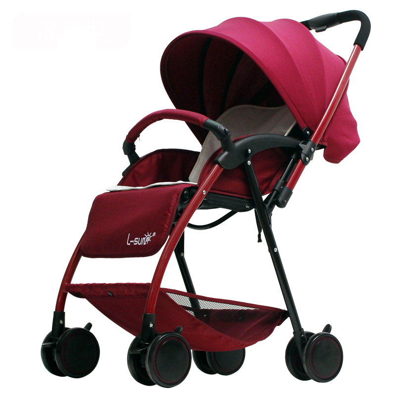 Small Sun, Baby Cart, Trolley, Super Light Summer Folding Umbrella, Can Sit, Lie High Landscape Stroller new arrival iron