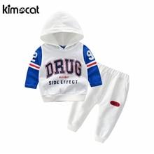 цена на Kimocat Baby Boy Clothes Spring Cotton Baby Clothing Sets Long Sleeve T-Shirt+Vest+Pants 3pcs Warm Fashion Infant Baby Set