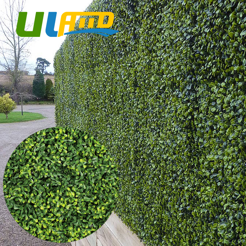 ULAND Artificial Boxwood Hedges Plants Panels Outdoor Decorative 3SQM UV Proof Faux Ivy Bush Fence Screening Wedding Decoration