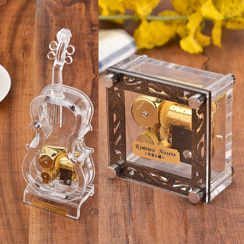 Home Decor Acrylic Star Music Box Creative Music Box gifts Lovely Home Decoration 6 Songs in Selection Birthday Wedding Gift