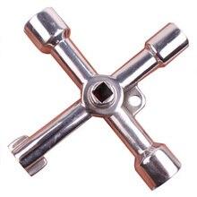 Многофункциональный инструмент крест Электрический шкаф управления внутри треугольный ключ Лифт счетчик воды клапан квадратное отверстие ключ