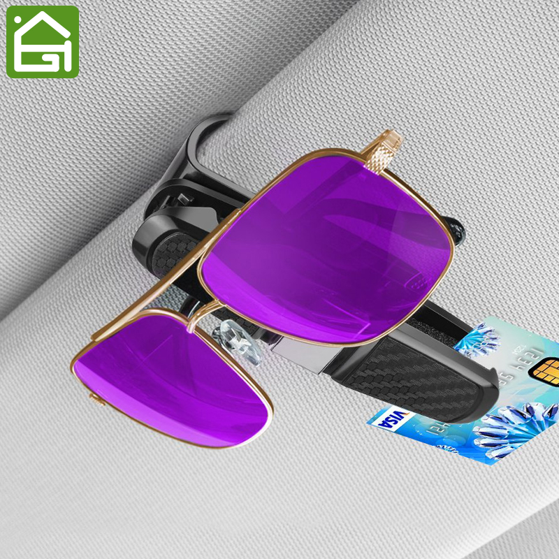 Rose RT CARE Sunglasses Holder for Car Wire Frame Sunglasses Holder Car Double Sunglasses//Glasses Holder For Car Sun Visor-Conveniently Holds 1 Pairs Of Sunglasses And Tickets By