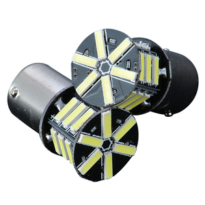 Image 2 - 2pcs 12V BA15S 1156 7020 Turn Signal Light 21LED Super White Tail Backup Reverse Brake Light Bulb for Car Lighting