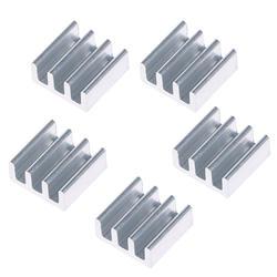 5 шт. 11x11x5 мм Алюминий радиатор для памяти микросхема новый поддержка прямых поставок