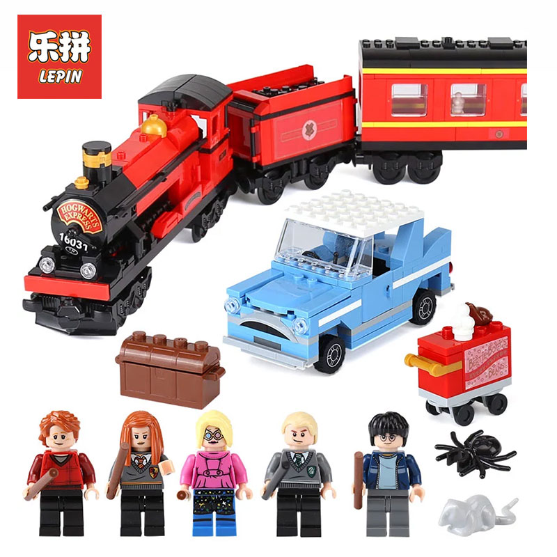 Lepin 16031 724Pcs Movie Series Hogwarts Express Train Classic Set Building Blocks LegoINGlys Bricks DIY Toys for children Gift free shipping new lepin 16009 1151pcs queen anne s revenge building blocks set bricks legoinglys 4195 for children diy gift
