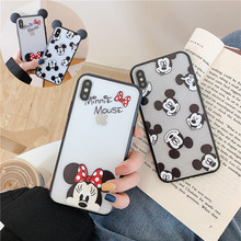 Funda de silicona blanda de Minnie con dibujos animados bonitos para iPhone 7 8 6 6S Plus X XS Max XR Funda ultrafina(China)