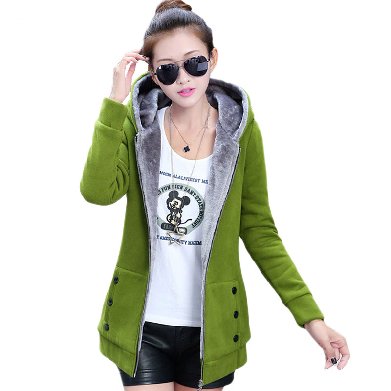 Jacket   Women Casual Hoodies Coat Cotton Sportswear Hooded Warm   basic     Jackets   Coats 2019 Winter Autumn Plus Size S-4XL