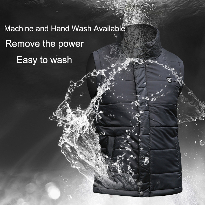 Image 4 - Men/Women S XXXXL USB Charging Electric Heated Vest Winter Heating Vest Temperature Control Safety Clothing for Outdoor Work-in Safety Clothing from Security & Protection