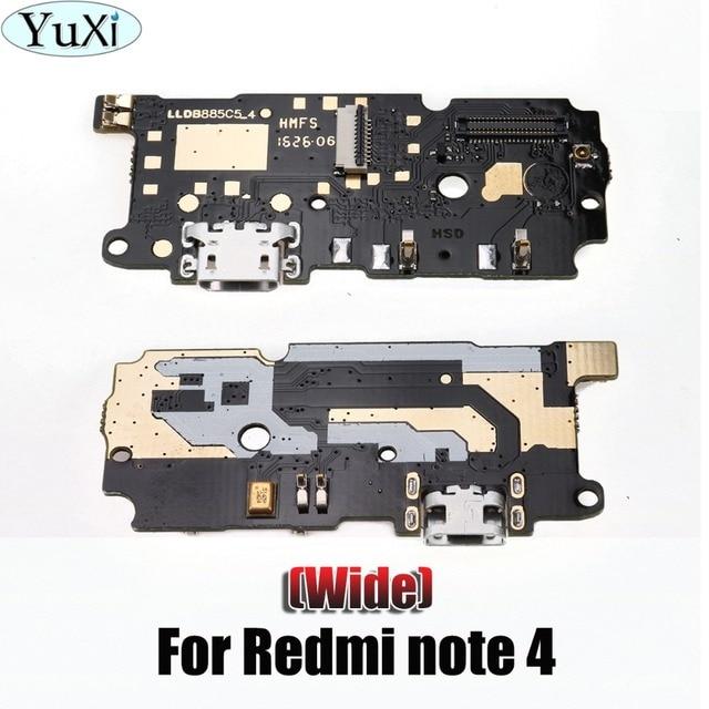 Юйси для Xiaomi для Redmi Note 4 MTK USB Зарядное устройство зарядки Порты и разъёмы ленты Flex кабель Micro USB Dock Connector Ремонт запчасти