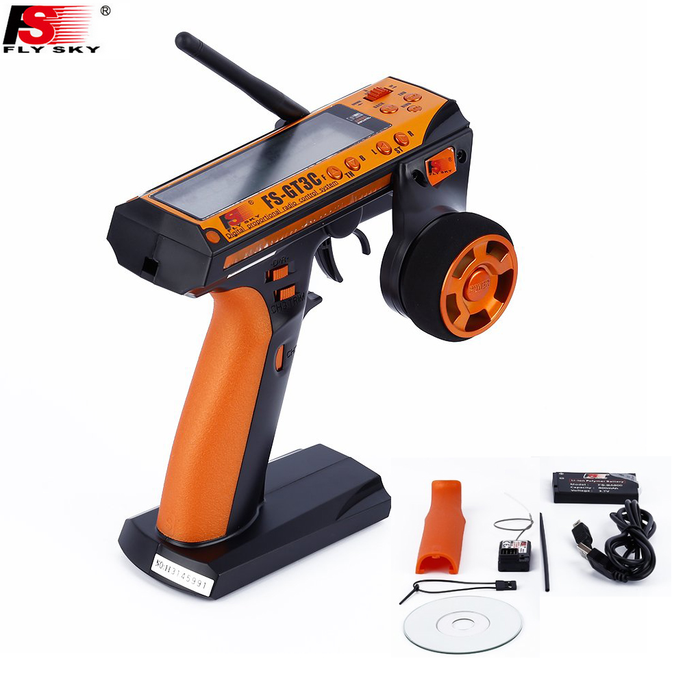 Flysky fs-gt3c FS gt3c 2.4g 3ch RC coche sistema/W batería gr3e receptor Radios controlador