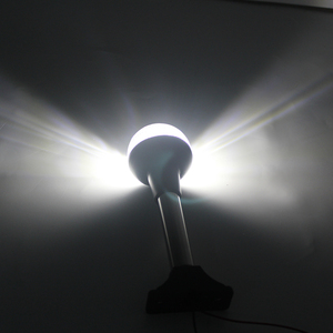 Image 5 - 12 V Deniz navigasyon ışığı Yat Tekne Beyaz LED Kıç Çapa Işık Tümü Yuvarlak 360 Derece Işık 186 MM