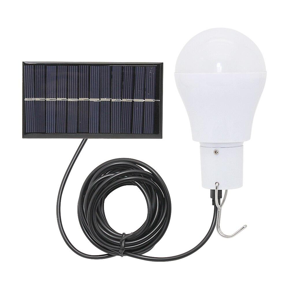 Bombilla LED Solar 15w 150lm Luz de ahorro de energía portátil pared lámpara para Camping senderismo pesca emergencia iluminación