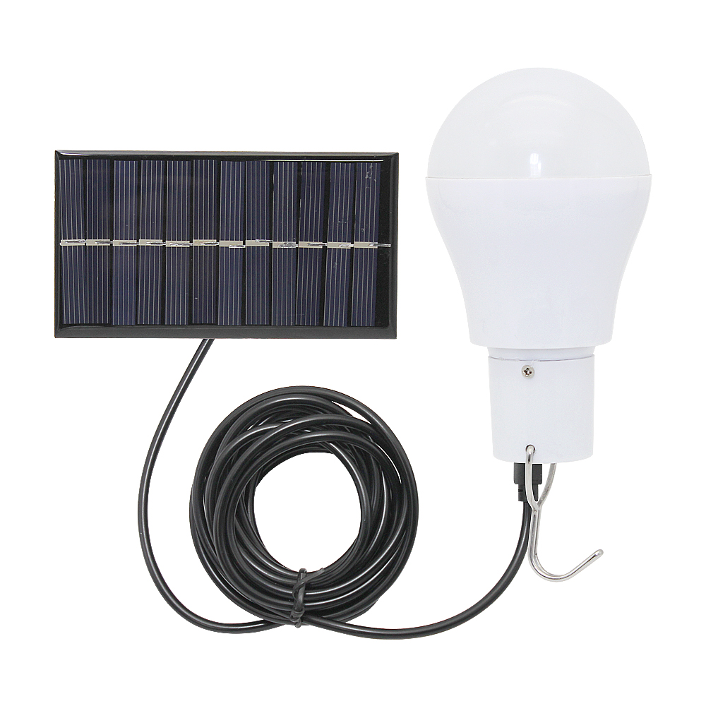 Solar LED Bulb 15w 150lm Energy Saving Light Portable Wall Lamp For For Camping Hiking Fishing Emergency Lighting