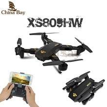 RC Drone Autofoto Dron Viso XS809W XS809HW Mini Plegable con Wifi FPV Quadcopter Vs 0.3MP o 2MP Cámara de Altitud Hold JJRC H37