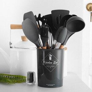 Image 3 - Ustensile de cuisine 9 à 12 pièces en silicone avec revêtement anti adhésif
