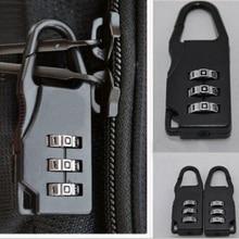 1 шт. модные новые качественные дорожные багажные чемоданы комбинированные замки навесные чехлы сумка Пароль цифра кодовый замок для дорожной сумки замки черный