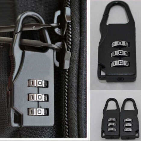 1PCS Fashion New Quality Travel Luggage Suitcase Combination Lock Padlocks Case Bag Password Digit Code Bag Locks Black
