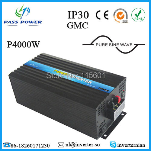 Free Shipping ,Off Grid <font><b>12V</b></font> <font><b>24V</b></font> 48V DC <font><b>to</b></font> AC 4000W Pure Sine Wave Solar Inverter 48V Power Inverter 220V 230V image