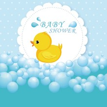 Laeacco Cartoon Baby Shower Duck Bubble Scene Newborn Photography Backgrounds Customized Photographic Backdrops For Photo Studio