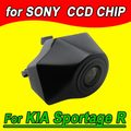 Cor CCD logotipo Veículo vista Frontal da câmera do carro para Kia Sportage R 2011 2012 PAL NTSC (Opcional)