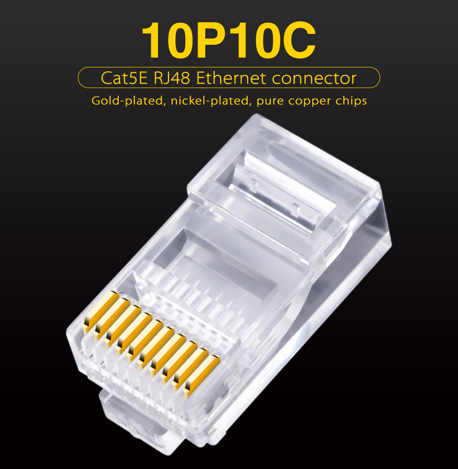 30pcs 10p10c rj45 rj48 rj50 cat5e utp ethernet connector network rh aliexpress com Pollak Trailer Plugs Wiring-Diagram Plug and Switch Wiring Diagram