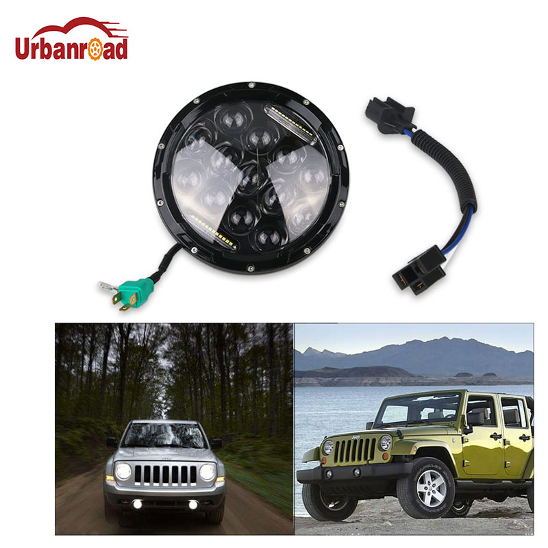 Urbanroad LED Motorcycle Motorbike Headlight 75W High/Low Beam Round 7inch Daymaker Headlight head lamp DRL For Harley for Jeep 7inch motorcycle daymaker replacement led headlight