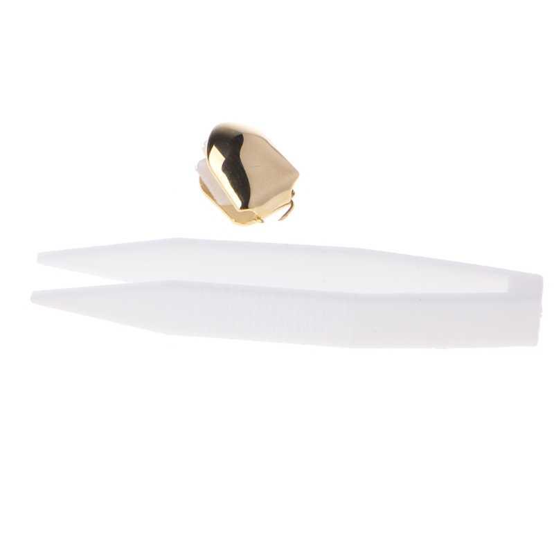 זהב רסיס צבע טרנדי רוק ראפר היפ הופ כובעי עובש למעלה & תחתון גריל גוף תכשיטי יחיד שן שיניים בלינג