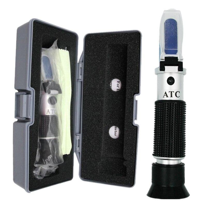 Boîte au détail Brix Réfractomètre testeur compteur avec ATC + huile d'étalonnage Sucre: 0-32% outils pour Fruits Légumes Jus 40% off
