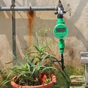 Image 4 - אוטומטי חכם השקיה בקר LCD תצוגת השקיה טיימר צינור ברז טיימר חיצוני עמיד למים אוטומטי על Off
