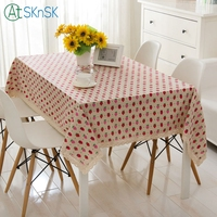 2016 New Arrival Household Multi Function Cloth Tablecloths Rustic Strawberry Tea Table Linen Tablecloths Cover Towel