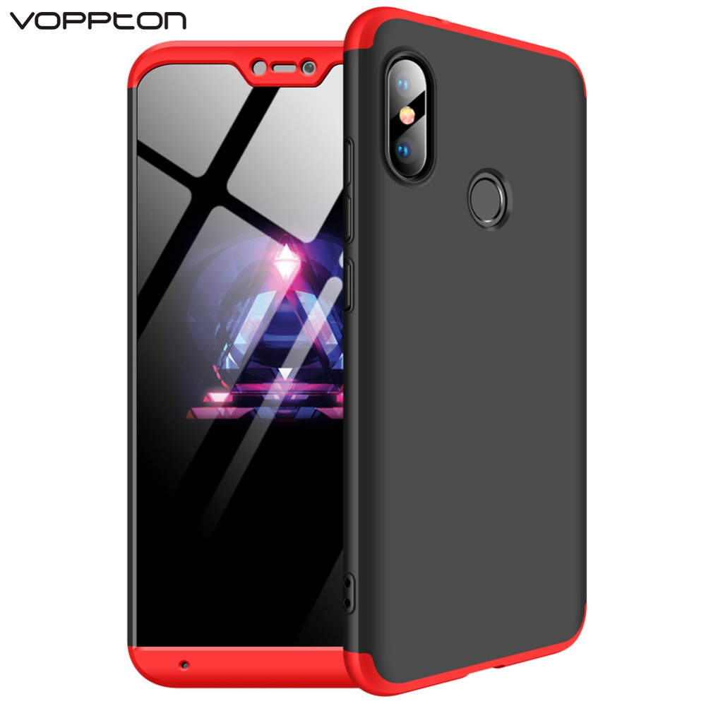 the best attitude 2d9a2 a9e7c US $3.3 20% OFF|360 Full Protection Case for Xiaomi Mi A2 lite Case Luxury  Hard PC 3 In 1 Back Cover for Xiaomi Redmi Note 7 Pro 6 pro Coque-in Fitted  ...