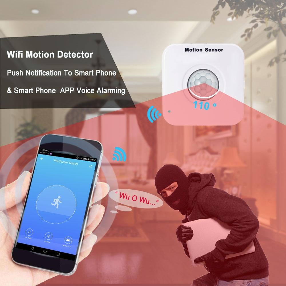 Topvico WIFI Motion Sensor Mini PIR Motion Detector WIFI Movement Sensor Alarm Tuya Smart Life APP Wireless Home Security System
