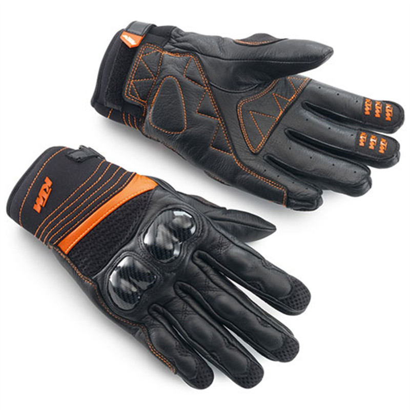 Motocross Racing Genuine Leather Radical X Gloves MX XC DH Mountain Dirt Bike Carbon Fiber Gloves Luvas Moto Guantes