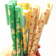 1pcs/lot Lovely Little Fox Gel Pen Marker Pen 0.35mm Black Students' DIY Drawing Pen Office School Supplies недорого