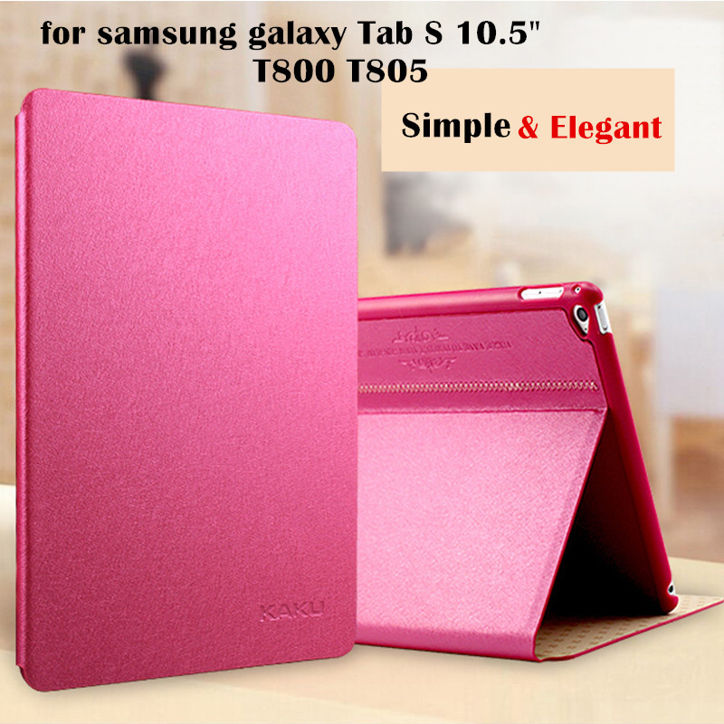 KAKU Ultra thin Leather case for samsung galaxy Tab S 10.5 T800 T805 tablet case Flip Cover Protective shell bag 50pairs set type a digital multimeter universal superfine pen 1000v 20a test lead probe cable smd smt needle tip