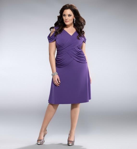 Short Plus Size Bridesmaid Dress Off Shoulder Chiffon Large Size ...