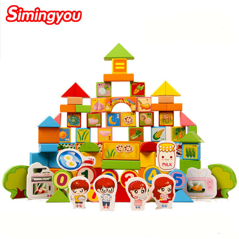 Simingyou 100 Pieces Of Wooden Card Through The Family Puzzle Educational Games For Children C20-Q-23 Drop Shipping 1000 pieces the wooden puzzles adventure together jigsaw puzzle white card adult children s educational toys