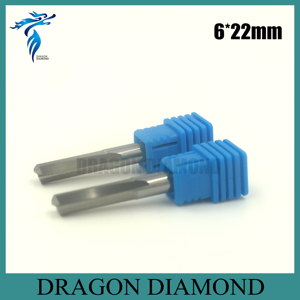 High Quality 5pcs 6*22mm Double Straight Flute Slot Cutter, CNC Wood Milling Cutting Tools, End Mill on Woodworking Machine  цены