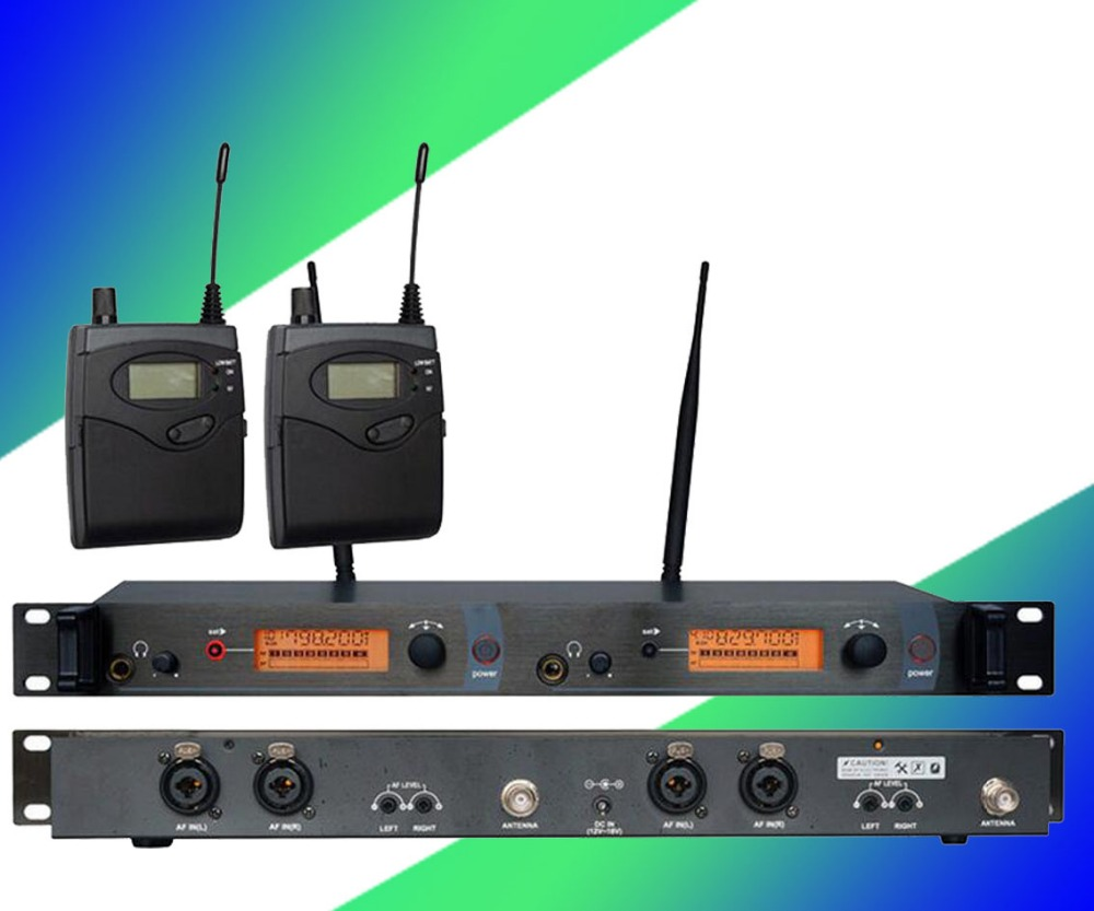 In Ear Monitor Wireless System, Twin transmitter Monitoring Professional for Stage Performance SR2050 IEM 6 pack receivers wireless in ear monitor system professional dual channels transmitter sr 2050 iem