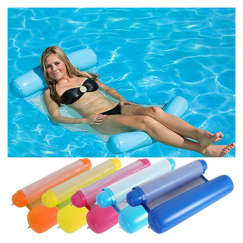 YUYU new inflatable lounge chair pool float swimming pool float swim ring hammock 8 color inflatable lounge bed for swimming