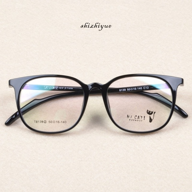 New TR90 óculos preto quadros Retro moda Full Frame óculos de grau