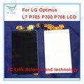 100% de trabajo pantalla lcd reemplazo de cristal de pantalla para lg optimus l7 p705 p700 p708 lcd envío gratis