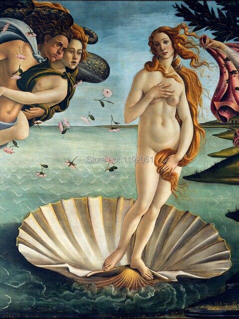 1348 Aliexpresscom Comprar Desnudo Paisaje Pinturas Lienzo Paisaje Venus Detallada De Sandro Botticelli El Nacimiento De Venus C1485 De Venus