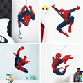 Hero Spiderman wall stickers for kids rooms decals home decor Kids Nursery 3D Wall sticker decoration for Boy christmas gift