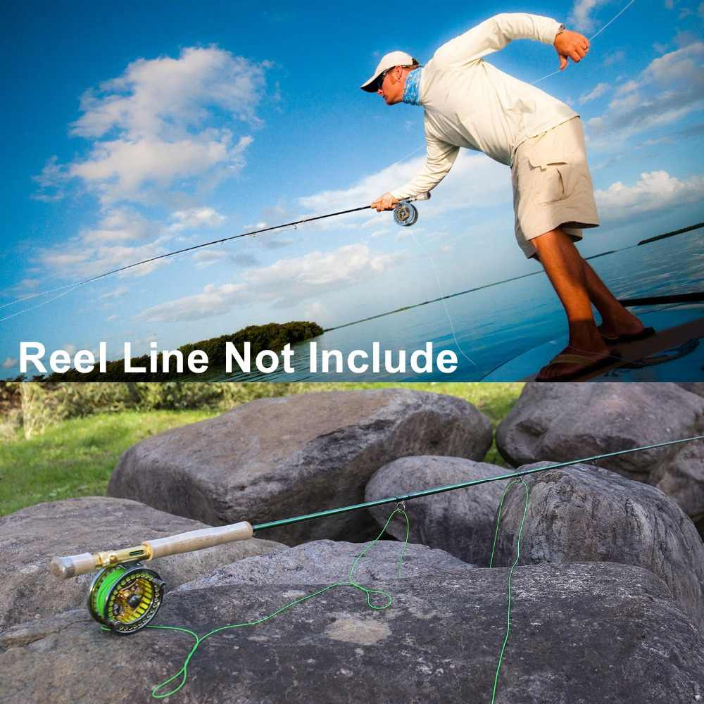 Sougayilang フライロッド 5/6 7/8FT 4 セクションフライフィッシングロッド環炭素繊維ロッドミディアムファストアクション淡水釣り竿