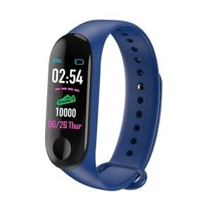 Image 2 - Astuto Della Vigilanza M3Plus Impermeabile Intelligente Del Braccialetto di Sport Del Telefono Bluetooth Monitor di Frequenza Cardiaca Fitness Intelligente Wristband Per Android IOS