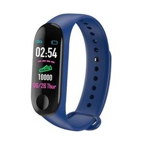 Image 2 - חכם שעון M3Plus עמיד למים חכם ספורט צמיד טלפון Bluetooth קצב לב צג כושר חכם צמיד עבור אנדרואיד IOS