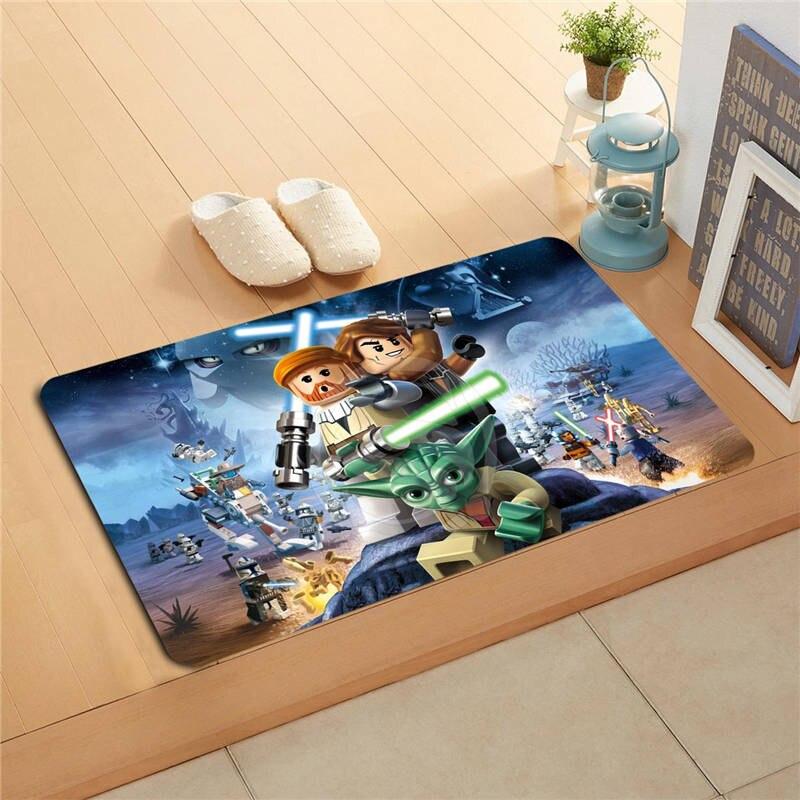 W620#8 Custom batman superman Watercolor Painting Doormat Home Decor Door mat Floor Mat Bath Mats foot pad F-#6